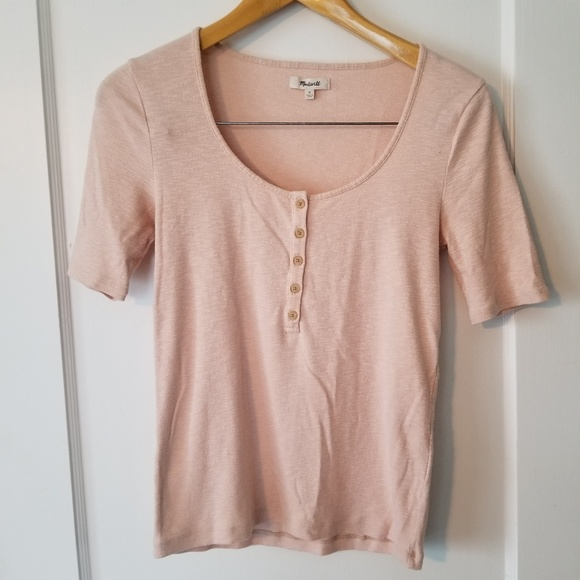 Madewell Tops - Madewell Blush Boat Neck Shirt